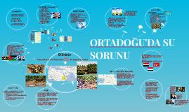 ORTADOĞU'DA SU SORUNU