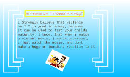 opinion essay violence on tv