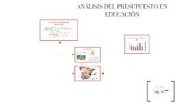 ANALISIS PRESUPUESTO EDUCACION CCAA