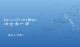Has Social Media Helped Change the World?