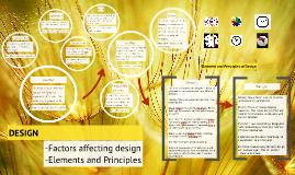 factors affecting design/Elements and Principles