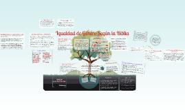Copy of Igualdad De Genero Segun La Biblia