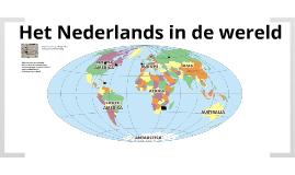 Het Nederlands in de wereld
