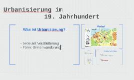 Urbanisierung im 19. Jahrhundert