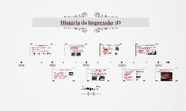 História da Impressão 3D