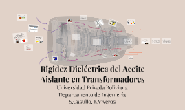 Rigidez Dielectrica del Aceite Aislante en Transformadores
