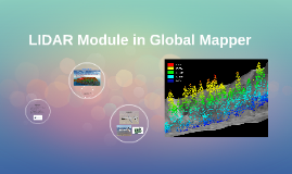 LIDAR Module in Global Mapper