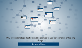 why professional sports shouldn't allow performance enhancin
