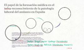 El papel de la formación médica en el infra-reconocimiento d
