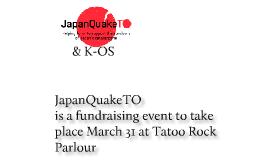 #JapanQuakeTO & K-OS