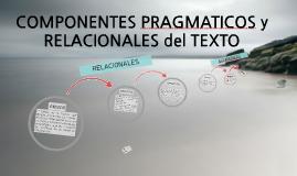 COMPONENTES PRAGMATICOS y RELACIONALES del TEXTO
