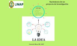 MI_INVESTIGACIÓN CIENTÍFICA: LA IDEA