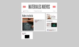 MATERIALES NUEVOS