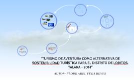 TURISMO DE AVENTURA COMO ALTERNATIVA DE SOSTENIBILIDAD TURÍS