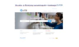 Muusika- ja filmiotsing raamatukogude e-kataloogist ESTER