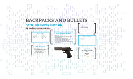 BACKPACKS AND BULLETS