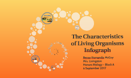 The Characteristics of Living Organisms Infograph
