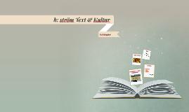 h: ström Text & Kultur