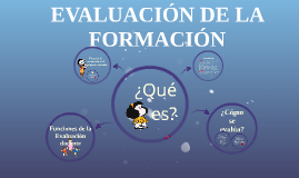 EVALUACIÓN DE LA FORMACIÓN