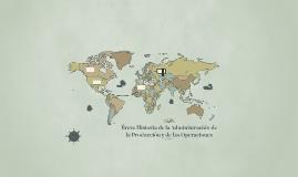 Breve Historia de la Administración de la Produccion y de la