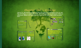 Chapter 19A - Ecology (Lecture)