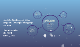 Special education and gifted programs for English language l
