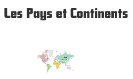 Pays et Continents