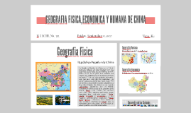 GEOGRAFIA FISICA,ECONOMICA Y HUMANA DE CHINA