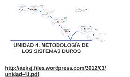 metodologia de sistemas duros