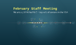 February Staff Meeting