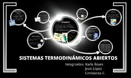 SISTEMAS TERMODINÁMICOS ABIERTOS