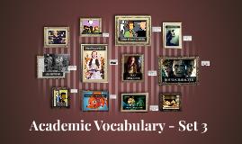 Copy of Academic Vocabulary -Week 3