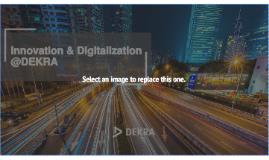 Innovation & Digitalization