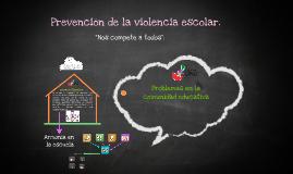 PREVENCIÓN DE LA VIOLENCIA ESCOLAR DOCENTES