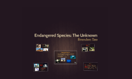 Endangered Species: The Unknown