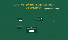 7.07 Graphing Logarithmic Functions