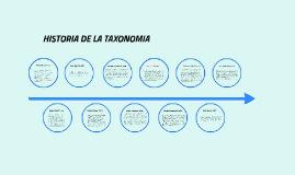Copy of Historia De La Taxonomía