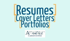 UNC Asheville Career Center Resume Building Guide