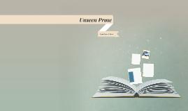 Unseen Prose