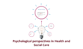 psychological perspectives in health and social care Behaviourist psychologists explain all human behaviour as resulting  7:  sociological perspectives for health and social care p1 explain the.