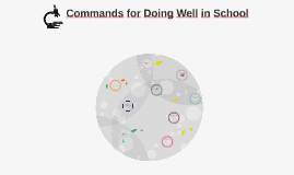 Commands for Doing Well in School