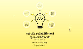 Website Reliability Prezi