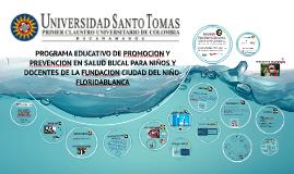 Copy of PROGRAMA EDUCATICO DE PROMOCION Y PREVENCION EN SALUD BUCAL