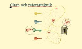 Citat- och referatteknik