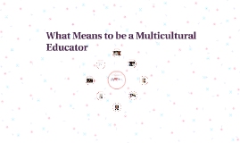 What Means to be a Multicultural Educator