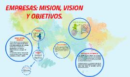 Copy of empresas: mision, vision y objetivos.