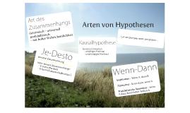 Arten von Hypothesen