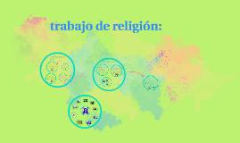 * trabajo de religión:
