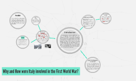 Why and How were Italy involved in the First World War?