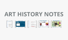 Art History Notes Format